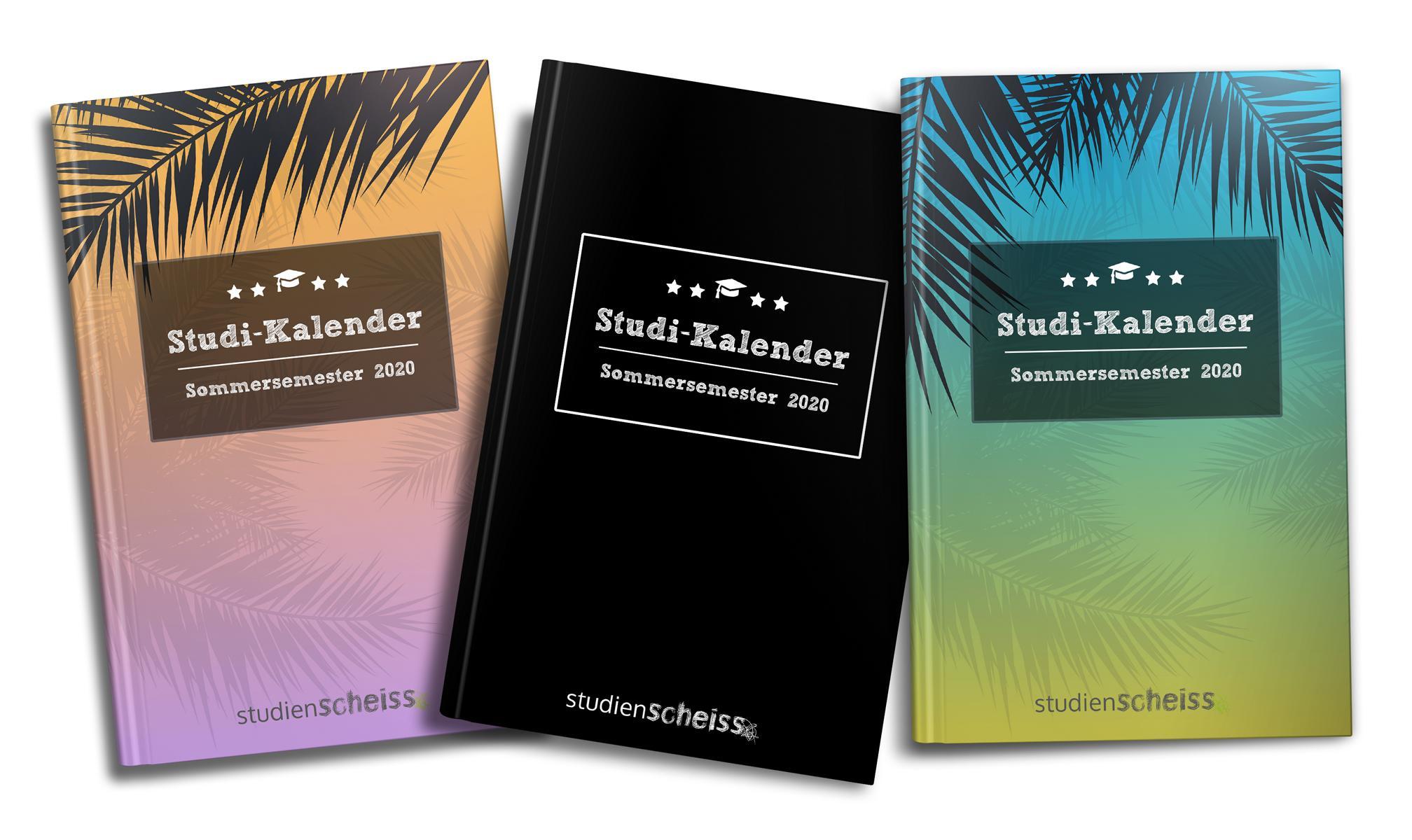 Studi-Kalender - Sommersemester 2020: Softcover-Ansicht alle Varianten