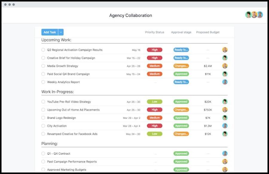 Mit der Organisationsplattform Asana kannst du die Aufgaben innerhalb deiner Lerngruppe planen und strukturieren. Die Organisations-Software gibt es als App und Desktop-Anwandung.