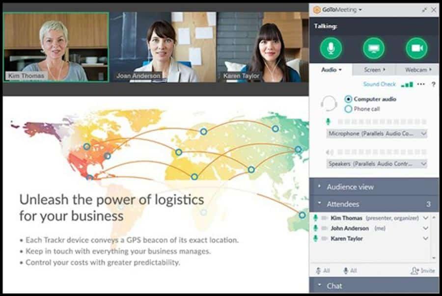 Mit der Kommunikations-Software GoToMeeting können du und deine Kommilitonen Videokonferenzen abhalten. Auf diese Weise könnt ihr euch digital innerhalb eurer Lerngruppe austauschen.