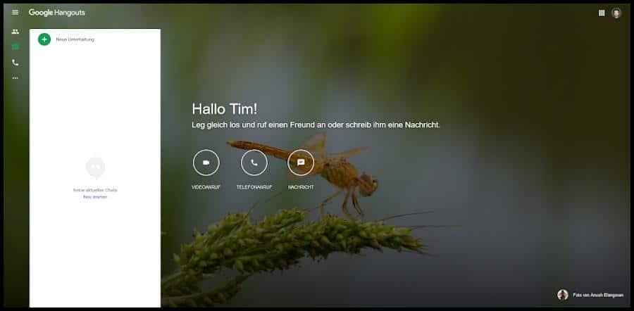 Mit der Videokonferenz-Software von Google Hangouts kannst du mit deinen Kommilitonen chatten, telefonieren und Videokonferenzen durchführen. Außerdem könnt ihr in eurer Lerngruppe Dokumente teilen und Aufgaben organisieren.