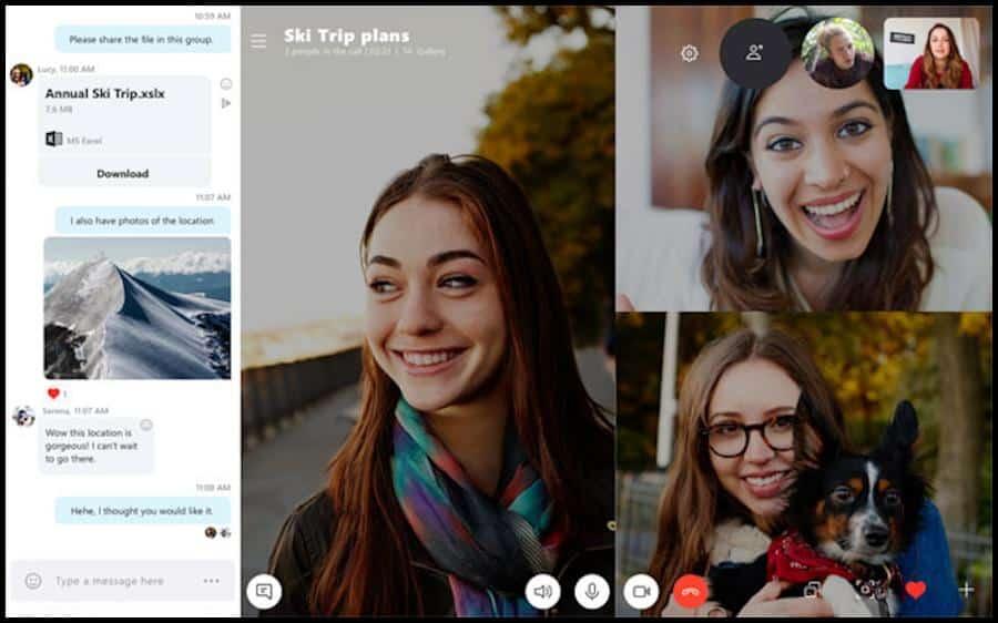 Mit der Software Skype kannst du mit deinen Kommilitonen Textnachrichten austauschen und über das Internet telefonieren. Außerdem kannst du mit dieser digitalen Lösung Videokonferenzen durchführen und mit deiner Lerngruppe Dokumente teilen.
